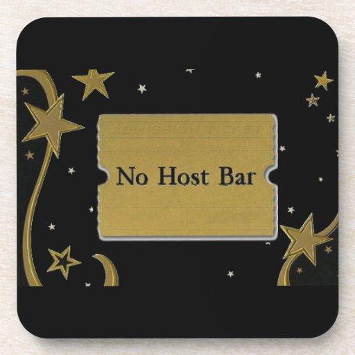 Ningunas estrellas y negro del oro del boda de la  posavasos de bebidas