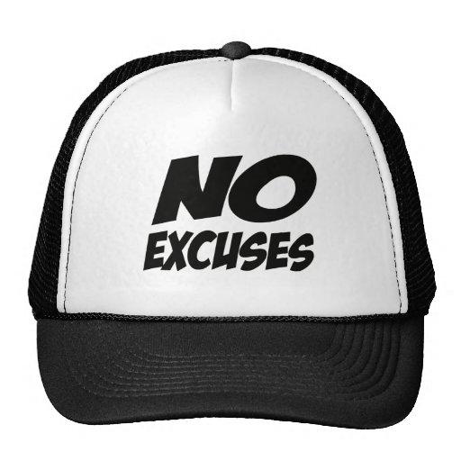 ¡Ningunas excusas! Gorro De Camionero