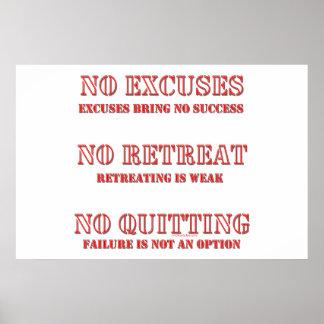 Ningunas excusas póster