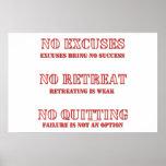 Ningunas excusas posters