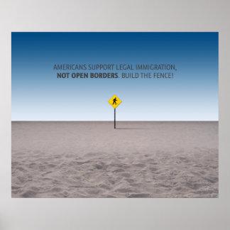 Ningunas fronteras abiertas póster