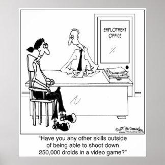 ¿Ningunas habilidades de trabajo? Póster