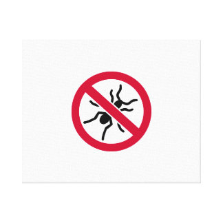 Ningunas hormigas impresiones en lona estiradas