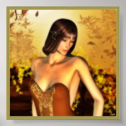 Ningunas mariposas para el otoño póster