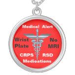 Ningunas medicaciones médicas de la alarma CRPS/RS Collar Personalizado