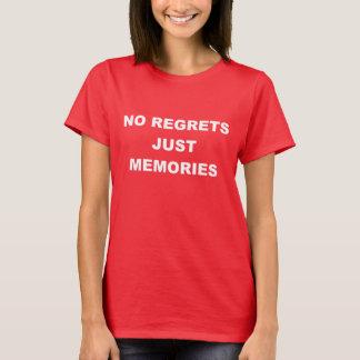 Ningunas memorias de los pesares apenas playera
