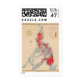 Ningunas muestras de Temblores de 6 distribuciones Sello Postal