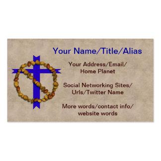 Ningunas nueces cristianas tarjeta de visita