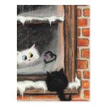 Ningunas palabras necesarias - gatos de la tarjeta postal