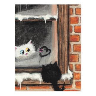 Ningunas palabras necesarias - gatos de la tarjeta tarjetas postales