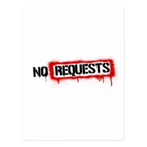 Ningunas peticiones DJ - cubierta del club de la m Tarjetas Postales