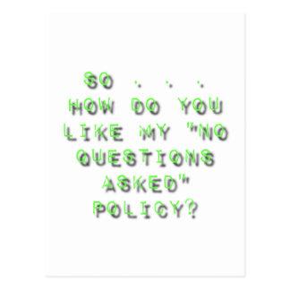 Ningunas preguntas pidieron sarcasmo de la postal