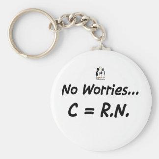 Ningunas preocupaciones C=RN Llavero Personalizado