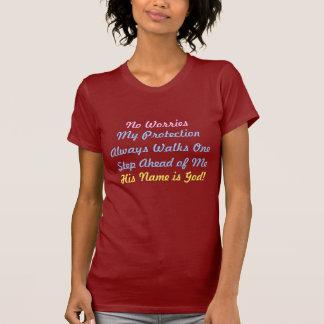 Ningunas preocupaciones, mi protección caminan camiseta