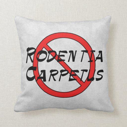 Ningunas ratas de la alfombra cojines