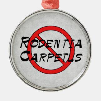 Ningunas ratas de la alfombra adorno de navidad