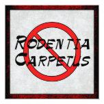 Ningunas ratas de la alfombra invitación 13,3 cm x 13,3cm