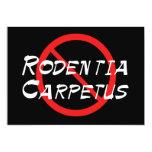 Ningunas ratas de la alfombra invitación 12,7 x 17,8 cm