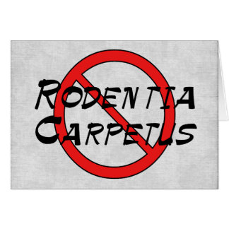 Ningunas ratas de la alfombra tarjeta de felicitación