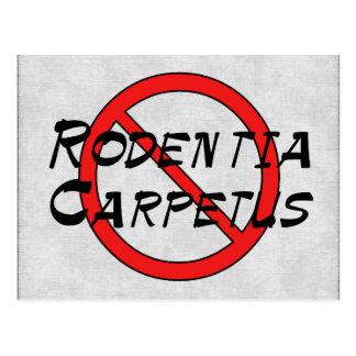 Ningunas ratas de la alfombra tarjetas postales