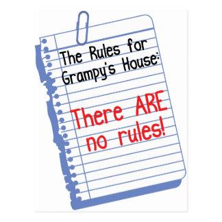 Ningunas reglas en la casa de Grampy Postal