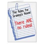 Ningunas reglas en la casa de Grampy Tarjeton