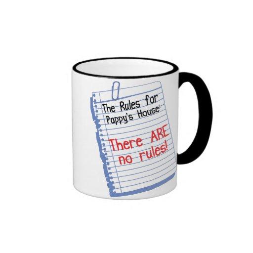 Ningunas reglas en la casa de Pappy Taza De Café