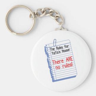 Ningunas reglas en YaYa' casa de s Llavero Redondo Tipo Pin