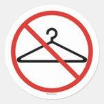 ¡Ningunas suspensiones del alambre! Etiquetas Redondas