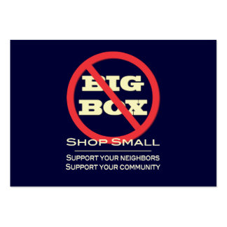 ¡Ningunas tiendas grandes de la caja! Tarjetas De Visita
