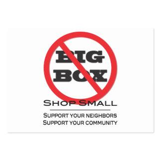 ¡Ningunas tiendas grandes de la caja! Plantillas De Tarjetas De Visita