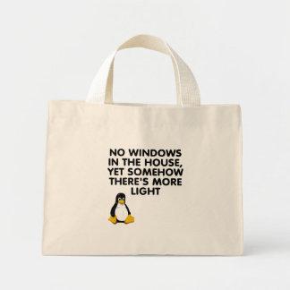 Ningunas ventanas en la casa… bolsa de mano