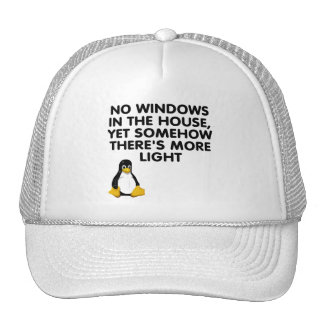 Ningunas ventanas en la casa… gorro