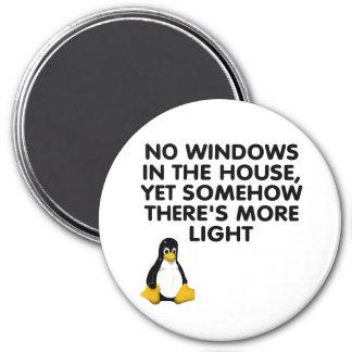 Ningunas ventanas en la casa… imán de frigorífico