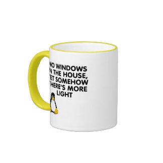 Ningunas ventanas en la casa… tazas