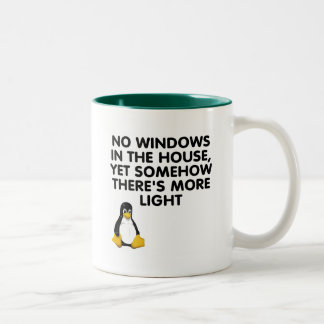 Ningunas ventanas en la casa… tazas de café