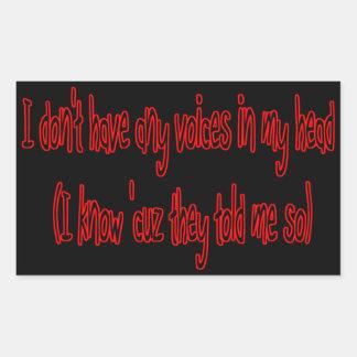 ningunas voces en mi pegatina divertido principal