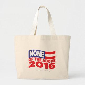 Ninguno del 2016 antedicho bolsa tela grande