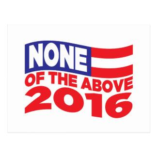 Ninguno del 2016 antedicho tarjeta postal