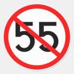 Ningunos 55 etiquetas redondas