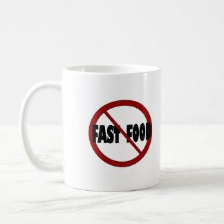 Ningunos alimentos de preparación rápida taza de café