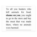 ¿Ningunos animales dañados en el contador de carne Postal