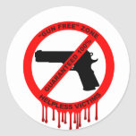 Ningunos armas, apenas víctimas etiquetas redondas