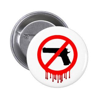 Ningunos armas permitidos = muertos inocentes pin redondo de 2 pulgadas