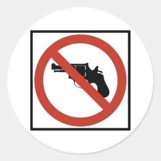 Ningunos armas permitieron la muestra de la etiquetas redondas