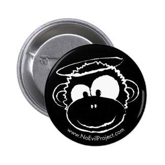 Ningunos botones del mono del mal - negro 2