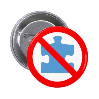 Ningunos botones del rompecabezas pin redondo de 2 pulgadas
