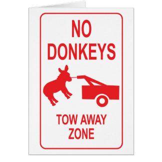 Ningunos burros: Zona ausente de la remolque Tarjeta