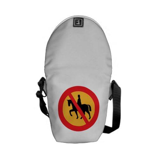 Ningunos caballos bolsa de mensajeria