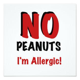 NINGUNOS cacahuetes soy alérgico Comunicado Personal